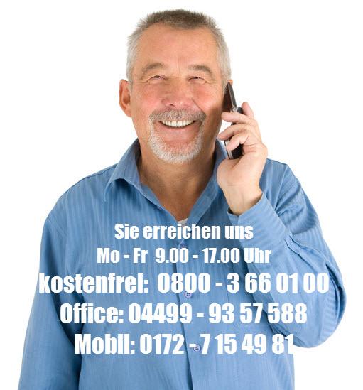 Sie erreichen uns kostenlos Telefonisch