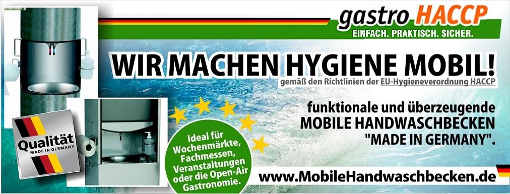 Mobile HACCP Waschbecken für die Gastronomie